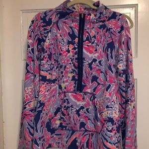 Lilly Pulitzer shrimply chic popover sz large